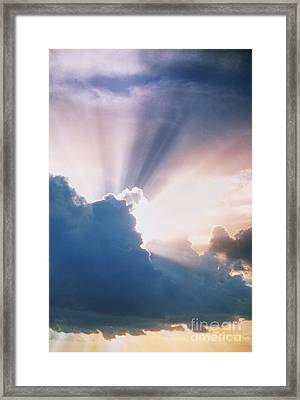 Sun Rays Framed Print by Erich Schrempp and Photo Researchers