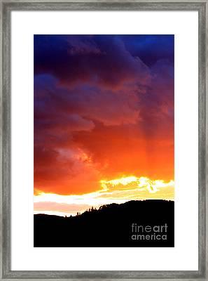 Sun Rays Framed Print by Nick Gustafson