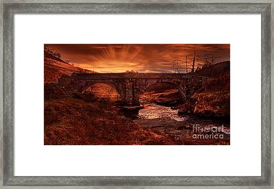 Sun Rise At Slippery Stones Framed Print by Nigel Hatton