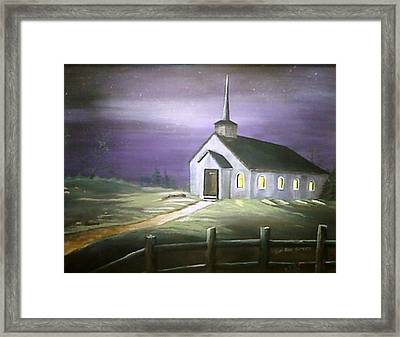 Sun Rise Service Framed Print by Evelyn Bloomer