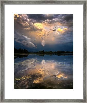 Sun Risen Reflections Framed Print by Phil Koch