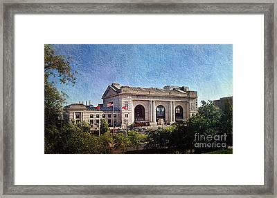 Sun Rising On Union Station In Kansas City Tv Framed Print by Andee Design