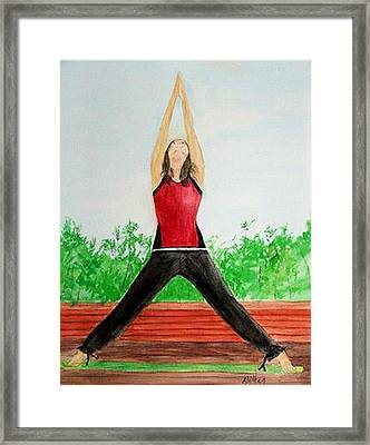 Framed Print featuring the painting Sun Salutation by Alethea McKee