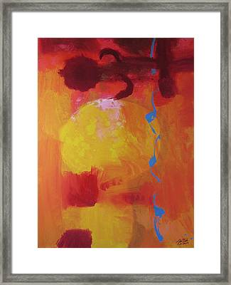 Framed Print featuring the painting Sun Screen by John Fish