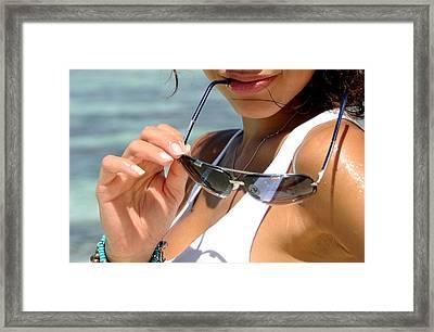 Sun Seduction. Hooked On A Feeling Framed Print by Jenny Rainbow