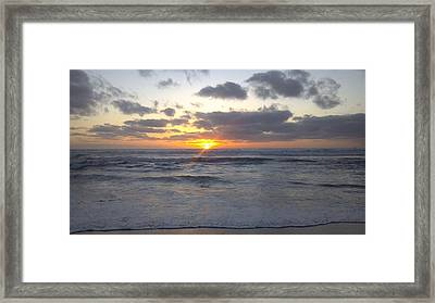 Sun Setting In Socal Framed Print by Anthony Anderson