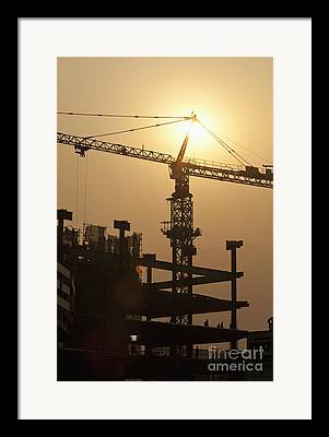 Construction Zone Framed Prints