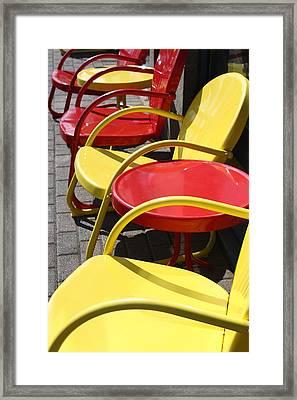 Sun Sits Framed Print