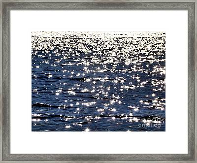 Sun Sparkle On Blue Waters Framed Print
