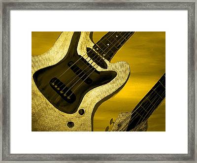 Sun Stained Yellow Electric Guitar Framed Print by Mark Moore