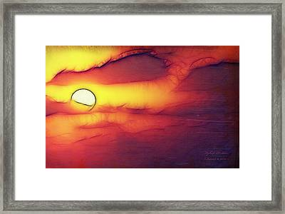 Framed Print featuring the photograph Sun Stand Thou Still Upon Gibeon by Itzhak Richter