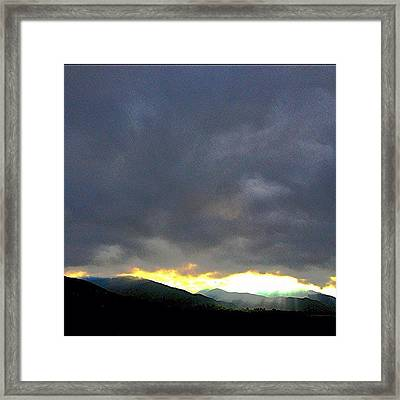 Sun Trying To Burn Through The Gloom! Framed Print