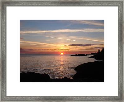 Framed Print featuring the photograph Sun Up On The Up by Bonfire Photography