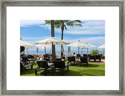 Sunbath Framed Print by Atiketta Sangasaeng