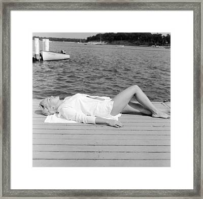 Sunbather Framed Print by Jacobsen