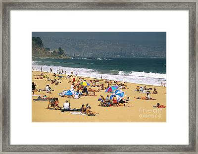 Sunbathers Framed Print by David Frazier and Photo Researchers