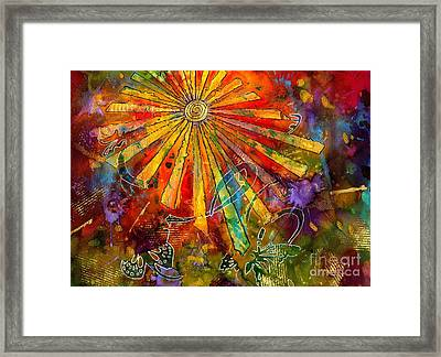 Sunburst Framed Print by Angela L Walker