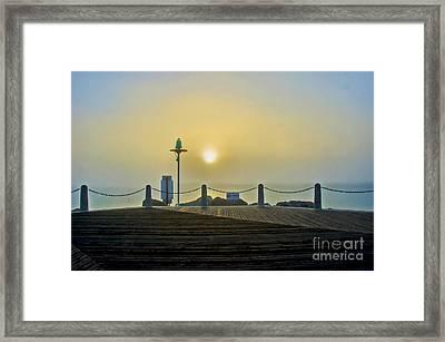 Framed Print featuring the photograph Sunburst In Fog by Joseph Hollingsworth