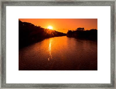 Sunburst Framed Print by Jason Naudi Photography