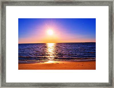 Framed Print featuring the photograph Sunburst by Kelly Reber