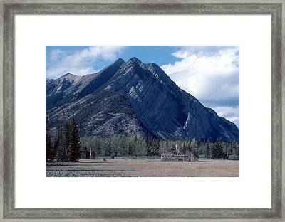 Sundance Lodge On The Kootenay Plains Framed Print by Jim Sauchyn