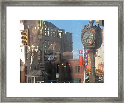 Sundance Square Reflection  Framed Print by Shawn Hughes