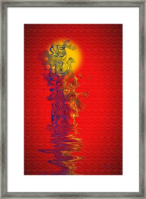 Framed Print featuring the digital art Sundance by Vicki Pelham