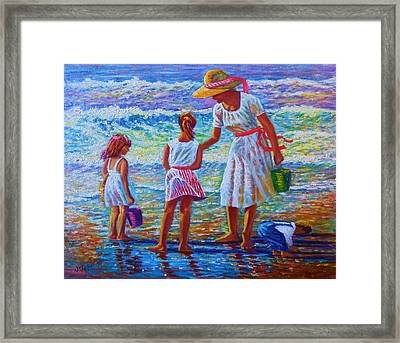 Sunday Afternoon Shore Study Framed Print by Joseph   Ruff
