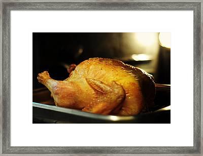 Sunday Chicken Framed Print by Rebecca Sherman