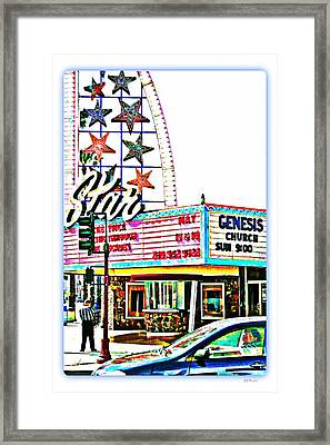 Sunday Comics Framed Print by Brian D Meredith