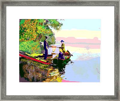 Sunday Fishing Framed Print by Charles Shoup