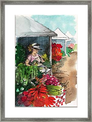 Sunday Market - Second Street Framed Print