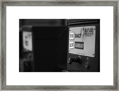 Framed Print featuring the photograph Sunday Paper by Randall  Cogle