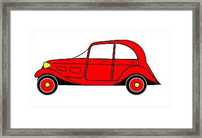 Sunday Picnic  - Virtual Car Framed Print by Asbjorn Lonvig
