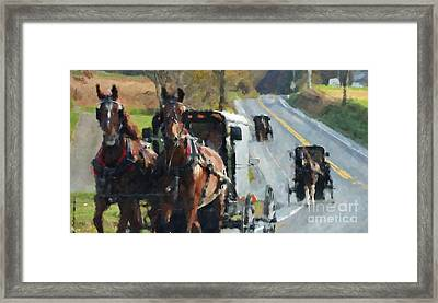 Sunday Ride Framed Print by Debbi Granruth
