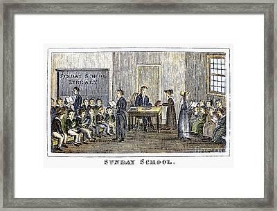 Sunday School, 1832 Framed Print by Granger