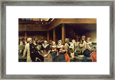 Sunday School Class  Framed Print by Isaac Mayer