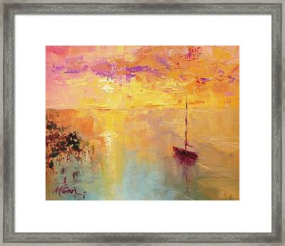 Sunday Sunset Framed Print by Marie Green