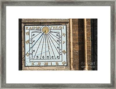 Framed Print featuring the photograph Sundial by Andrew  Michael