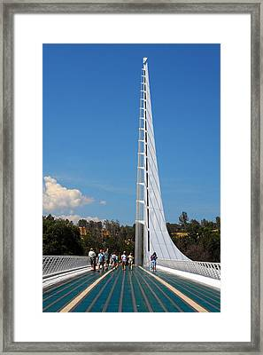 Sundial Bridge - This Bridge Is A Glass-and-steel Sculpture Framed Print