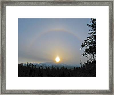 Framed Print featuring the photograph Sundogs  by Brian Sereda