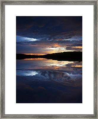 Sundown At Lake Framed Print