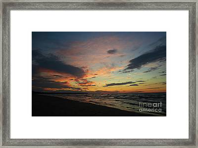 Framed Print featuring the photograph Sundown  by Barbara McMahon