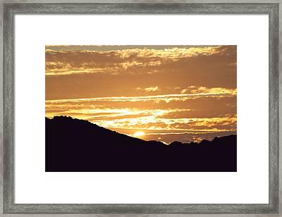 Sundown Framed Print by Caroline Lomeli