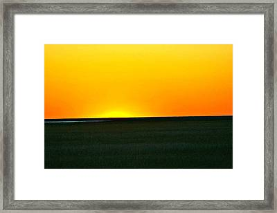 Sundown Framed Print by Debbie Sikes