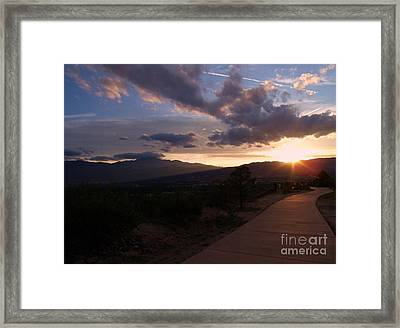 Sundown Framed Print by Donna Parlow