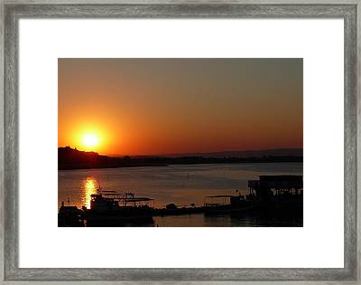 Sundown In Nessebar Framed Print