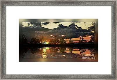 Sundown In The Lake Framed Print by Bruno Santoro