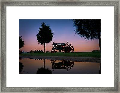 Sundown On Farmall At Chippokes Framed Print