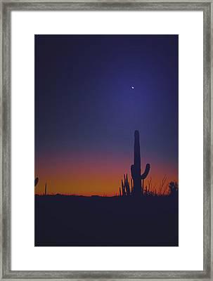 Sundown On The Desert 7746 Framed Print by J D  Whaley